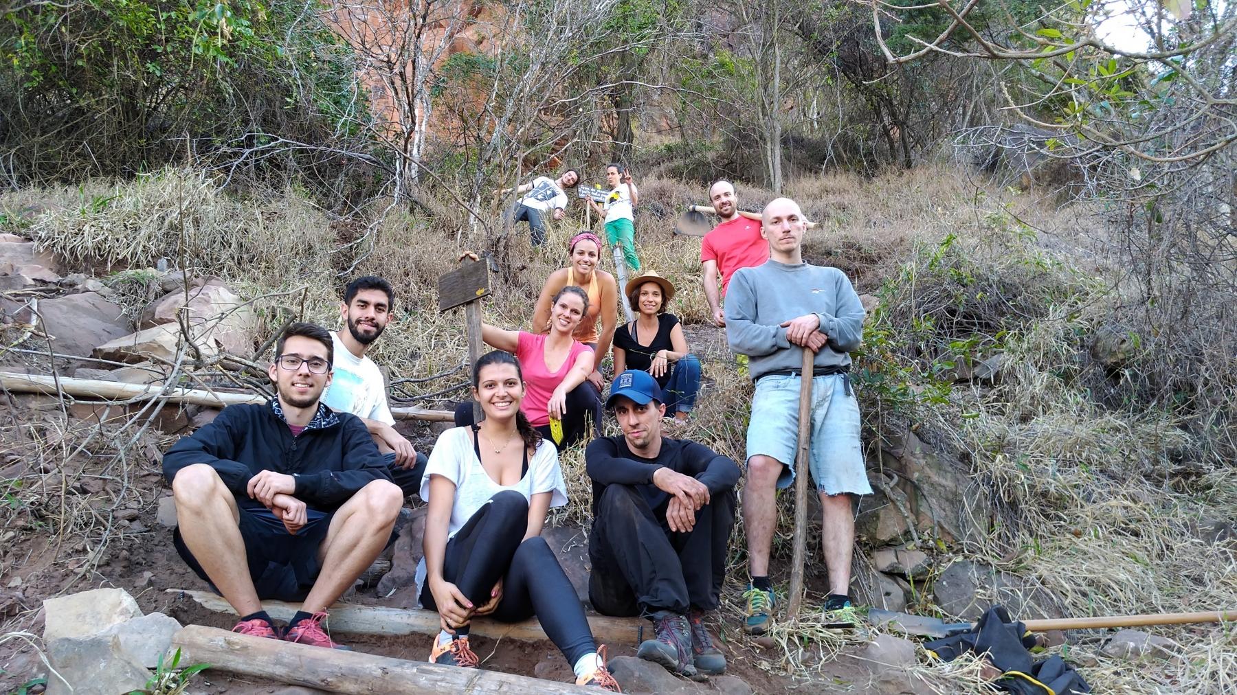 Multirão de manutenção nas trilhas do Cuscuzeiro. (2018)